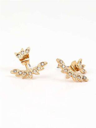 Crystal Leaf Earrings - Altar'd State