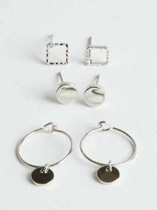 Wonder Earring Set - Silver - Altar'd State