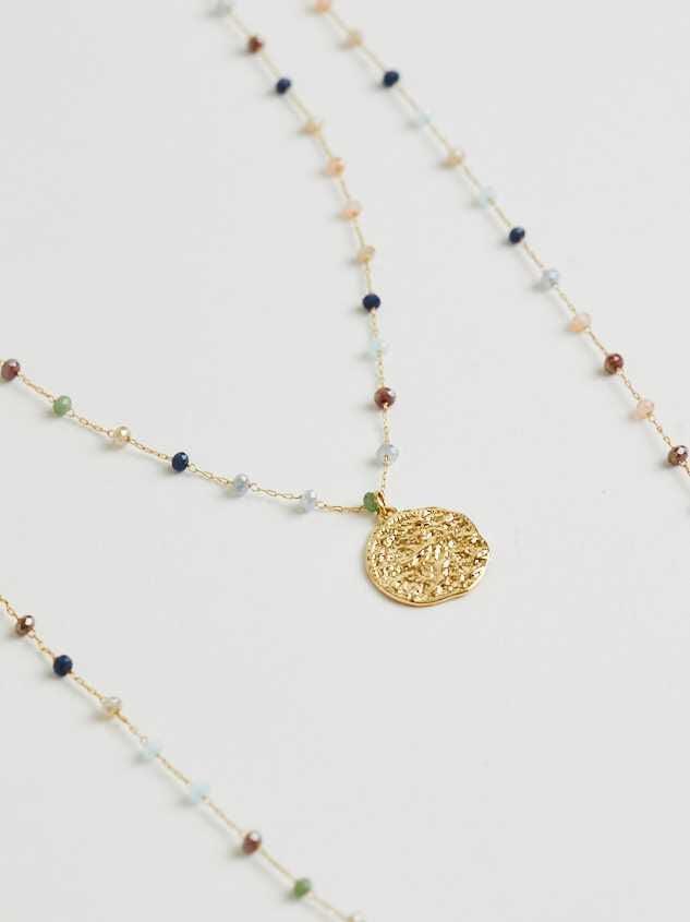 Harmoni Necklace - Dusty Blue Detail 2 - Altar'd State