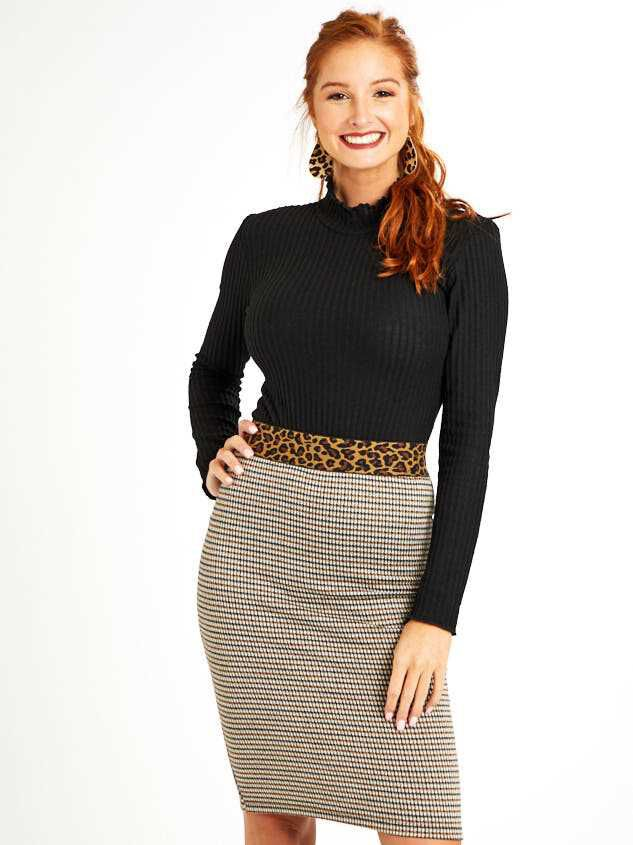 Leopard Dreams Midi Skirt Detail 2 - Altar'd State