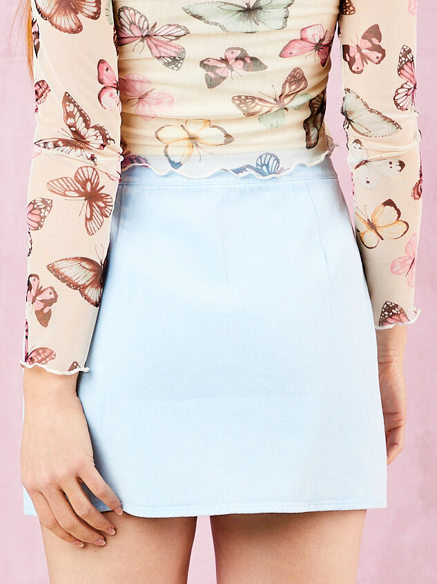 Shanee Denim Skirt Detail 2 - Altar'd State