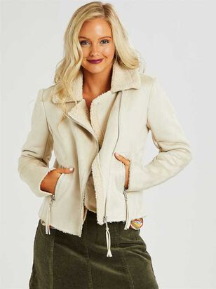Sherpa Motto Jacket - Altar'd State