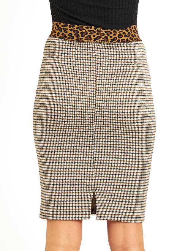 Leopard Dreams Midi Skirt Detail 5 - Altar'd State