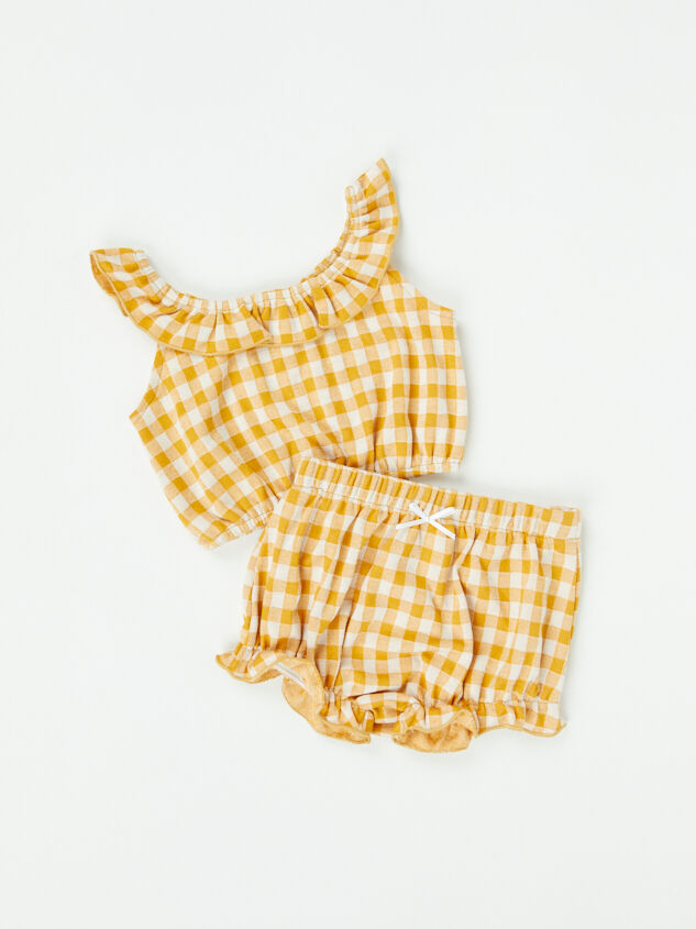 Tullabee Yellow Gingham Top and Bloomers - Altar'd State
