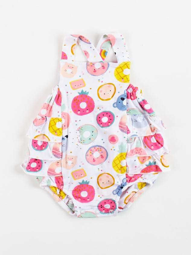 Tullabee Donut Smiles Ruffle Sunsuit - Altar'd State