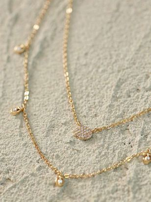 Gold Teardrop Choker Necklace - Altar'd State