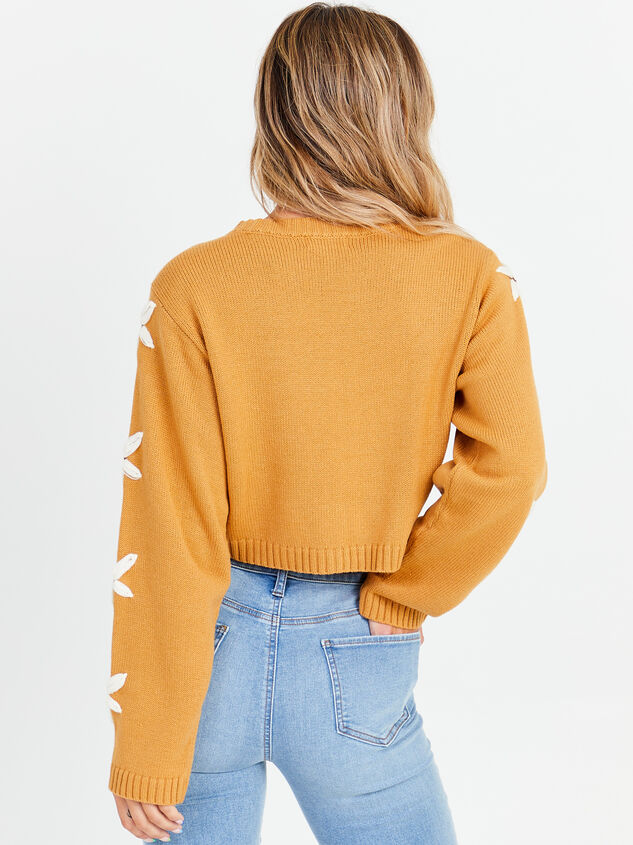 Daisy Cropped Sweater Detail 3 - Altar'd State
