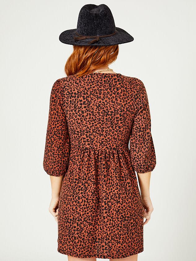 Eleanor Leopard Dress Detail 3 - Altar'd State