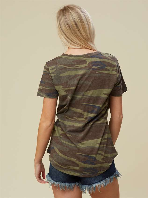 Favorite Fit Crossroads Tee - Camo Detail 3 - Altar'd State