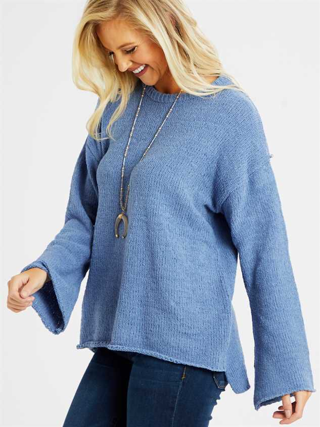 Eversoft Chenille Flare Sleeve Sweater Detail 3 - Altar'd State
