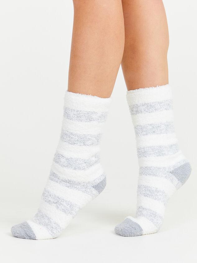 Striped Cozy Socks - Silver Detail 3 - Altar'd State