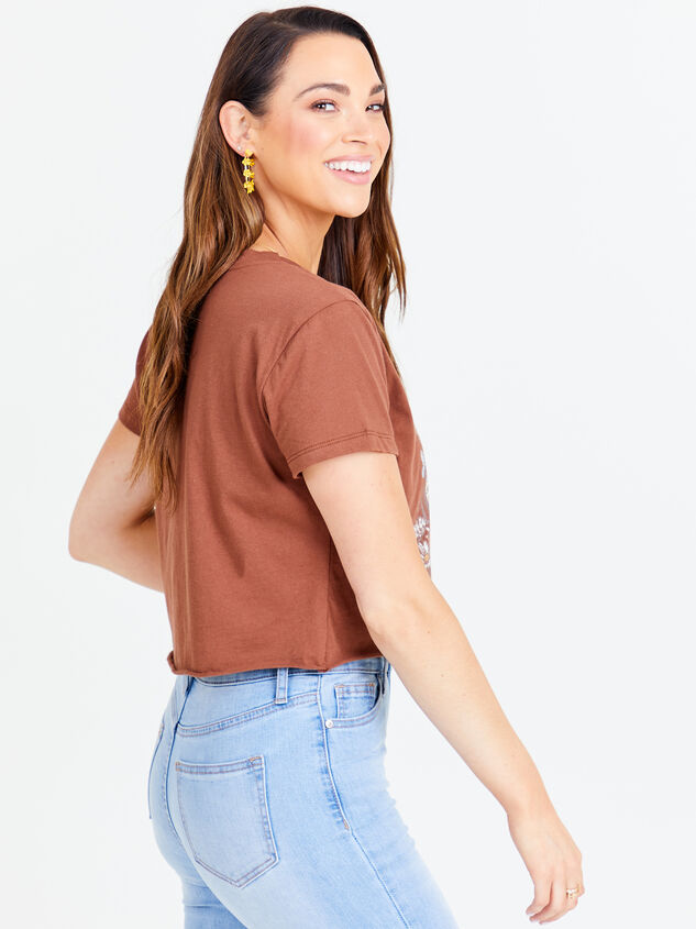 Here Comes the Sun Cropped Tee - Brown Detail 3 - Altar'd State