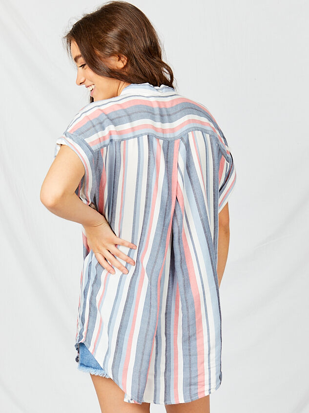 Breezy Button Down Top Detail 3 - Altar'd State