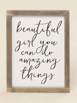 Beautiful Girl You Can Do Amazing Things Wall Art - Altar'd State