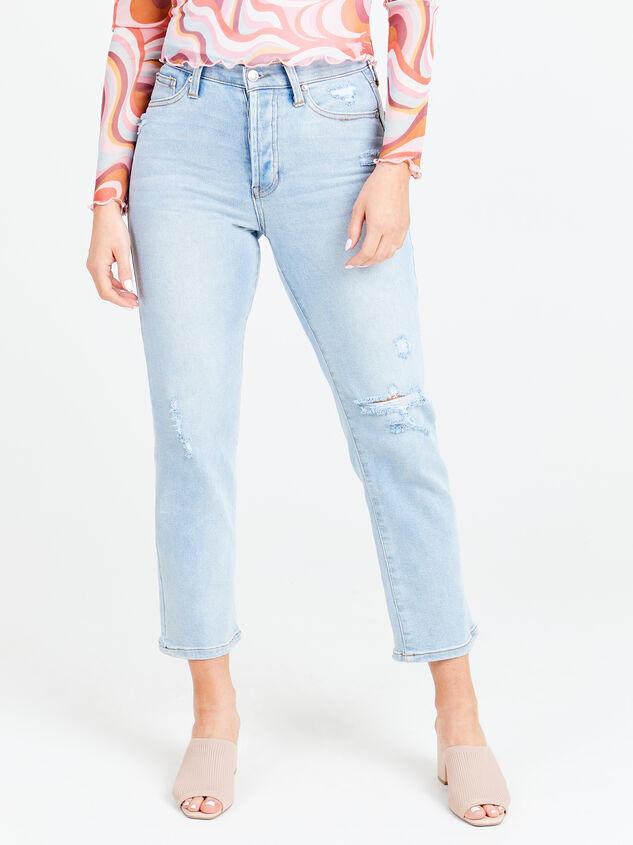 Crystal Beach Straight Leg Jeans Detail 1 - Altar'd State