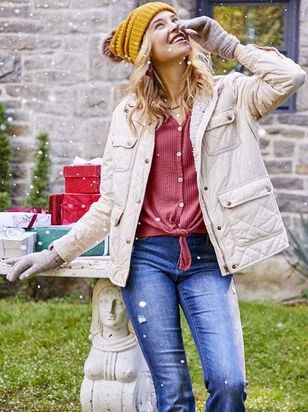 Alpine Quilted Puffer Jacket - Altar'd State