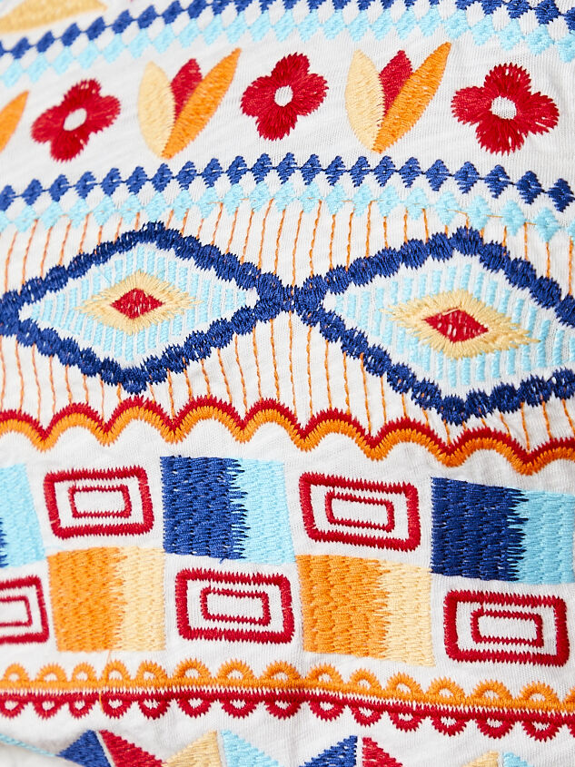 Embroidered Open Back Halter Top Detail 5 - Altar'd State