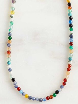 Natural Stone Beaded Choker Necklace - Altar'd State