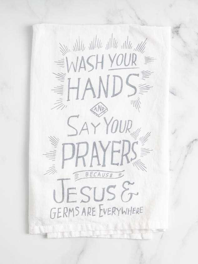 Jesus and Germs Everywhere Hand Towel - Altar'd State