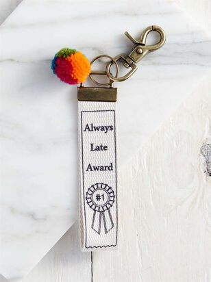 Always Late Award Keychain - Altar'd State