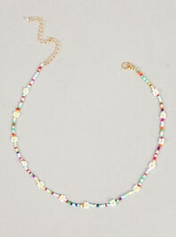 Colorful Daisies Beaded Choker Necklace - Altar'd State