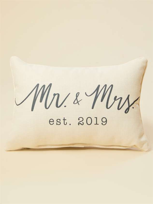 Mr. and Mrs. Established 2019 Pillow - Altar'd State