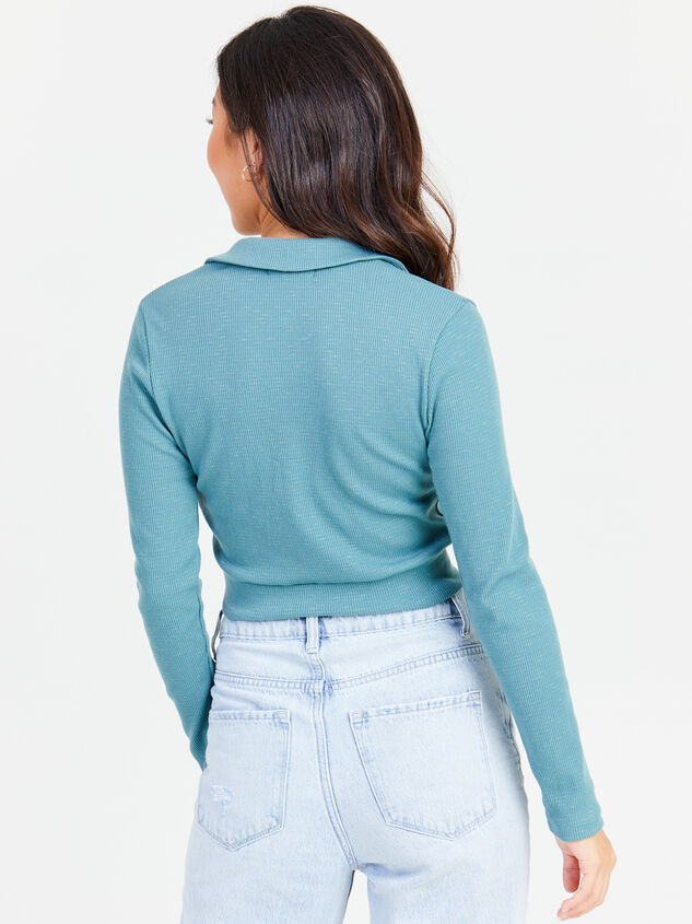 Kenna Cropped Polo Detail 3 - Altar'd State