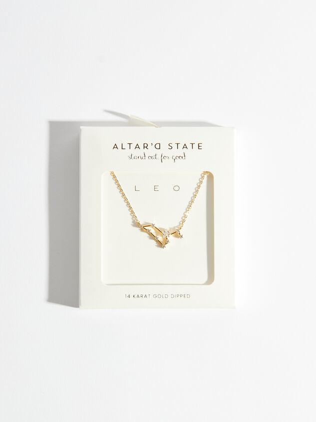 Zodiac Charm Necklace - Leo Detail 3 - Altar'd State