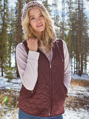 Alpine Hooded Wubby Puffer Vest - Altar'd State