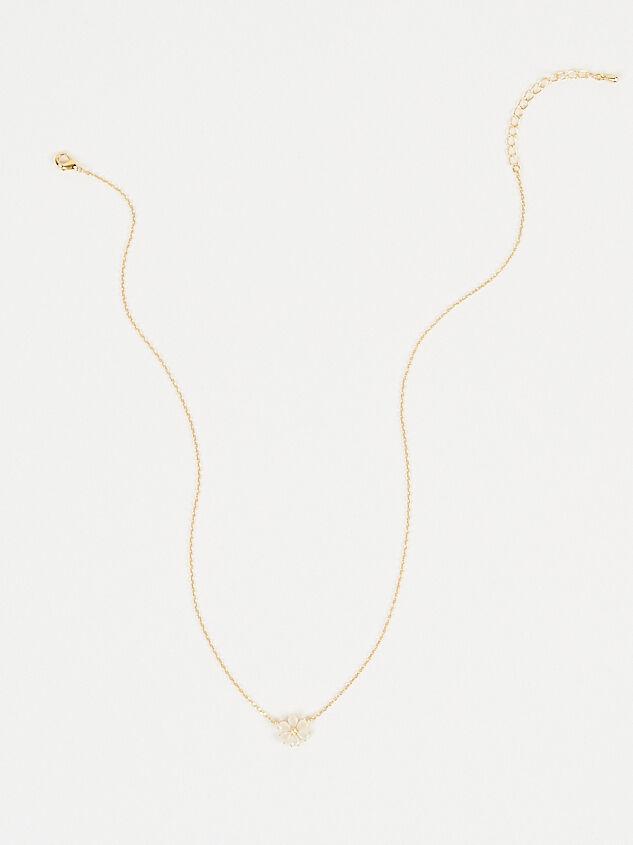 Crystal Flower Necklace Detail 4 - Altar'd State