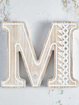 Wooden Monogram Letter Block - M - Altar'd State