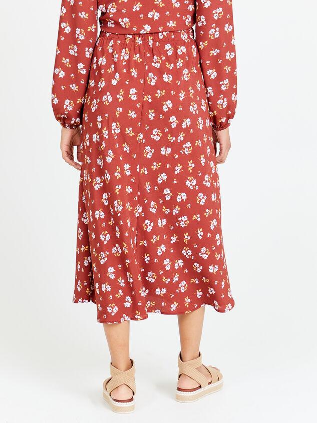 Alyson Floral Midi Skirt Detail 2 - Altar'd State