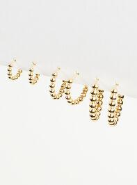 Textured Mini Hoop Earring Set Detail 3 - Altar'd State