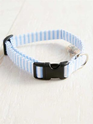 Bear & Ollie's Blue Seersucker Collar - Small - Altar'd State