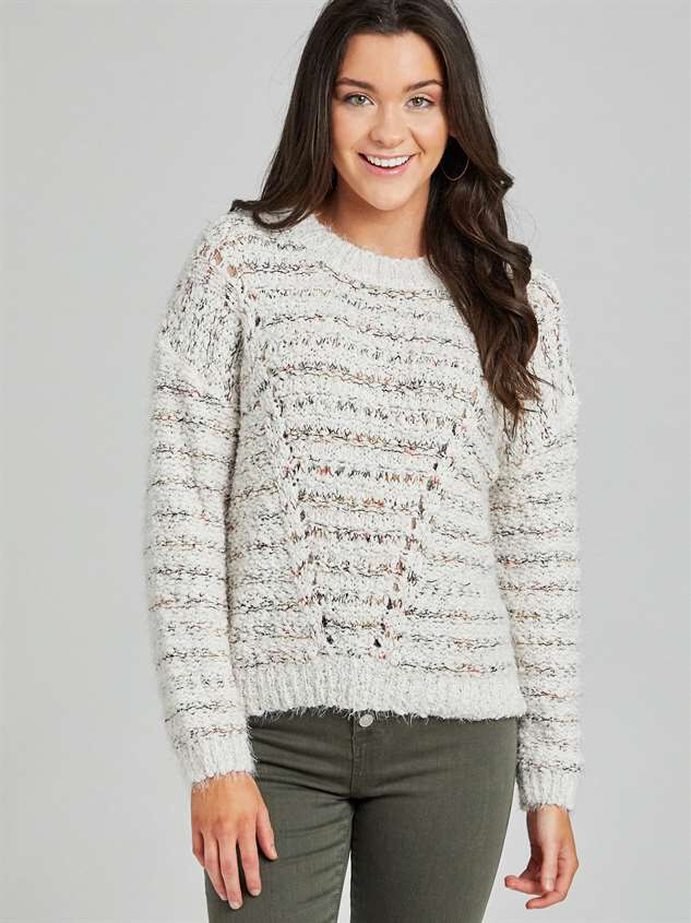 Lovely Lash Cable Sweater - Altar'd State
