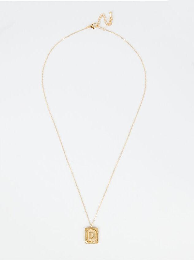 Burst Tag Monogram Necklace - D Detail 3 - Altar'd State