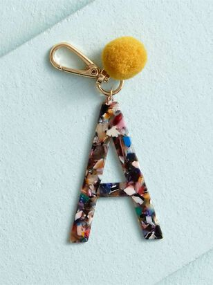 Acetate Pom Monogram Keychain - A - Altar'd State