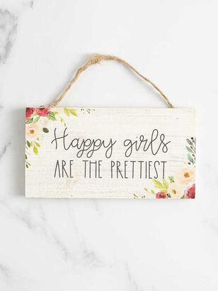 Happy Girls Hanging Sign - Altar'd State