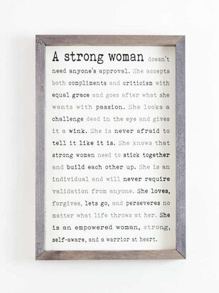 Strong Woman Wall Art - Altar'd State
