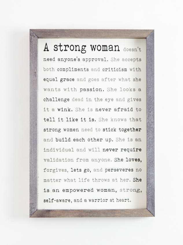 Strong Woman Wall Art - Altar'd State
