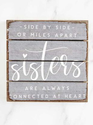 Sisters Connected at Heart Pallet Sign - Altar'd State