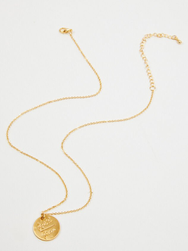 Faith Over Fear Necklace Detail 3 - Altar'd State