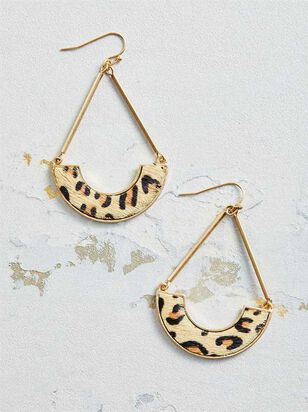 Leopard Teardrop Earrings - Altar'd State