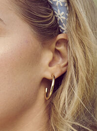 Jilli Hoop Earrings - Gold - Altar'd State