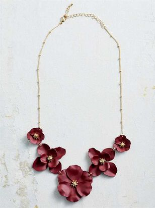 Flower Power Necklace - Burgundy - Altar'd State