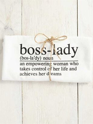 Boss Lady Hand Towel - Altar'd State