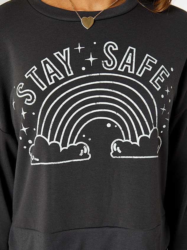 Stay Safe Rainbow Pullover Detail 4 - Altar'd State