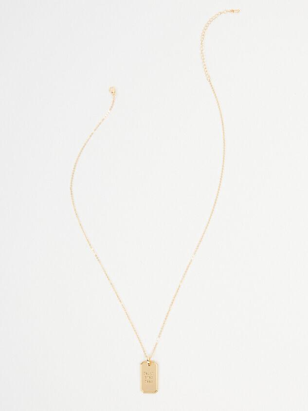 Faith Over Fear Tag Necklace Detail 4 - Altar'd State