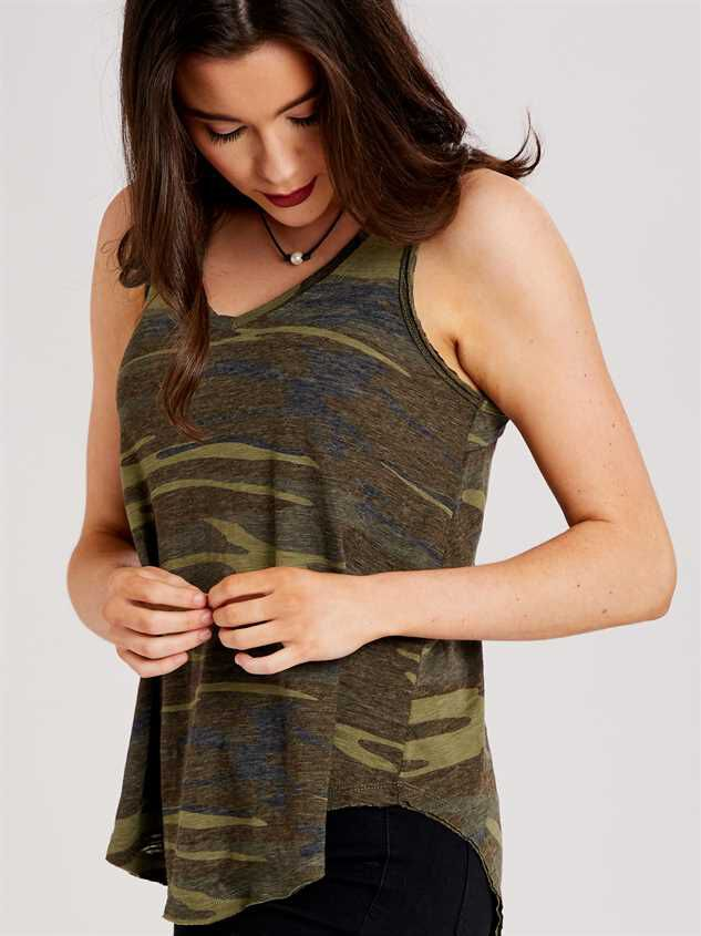 Favorite Fit Camo Tank Detail 2 - Altar'd State