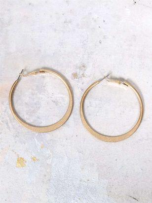 Hammered Hoops Earrings - Altar'd State